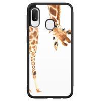 Samsung Galaxy A20e hoesje - Giraffe peekaboo