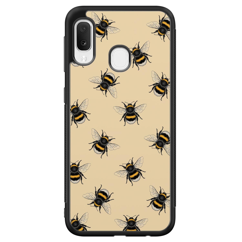 Samsung Galaxy A20e hoesje - Bee happy