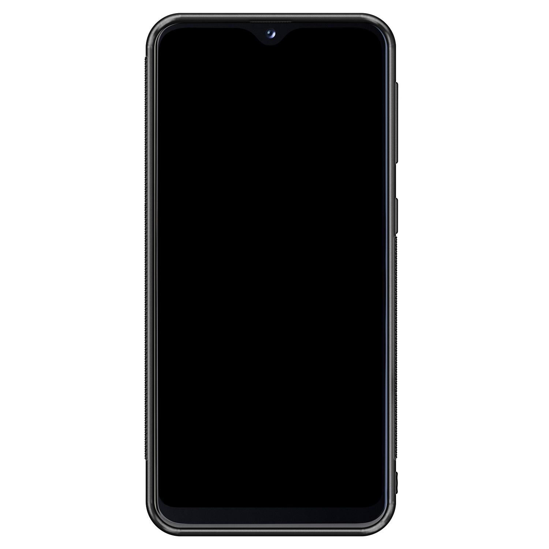 Samsung Galaxy A20e hoesje - Geometrisch blauw