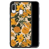 Samsung Galaxy A20e hoesje - Retro flowers
