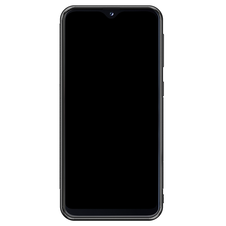 Samsung Galaxy A20e hoesje - Marmer zwart bruin