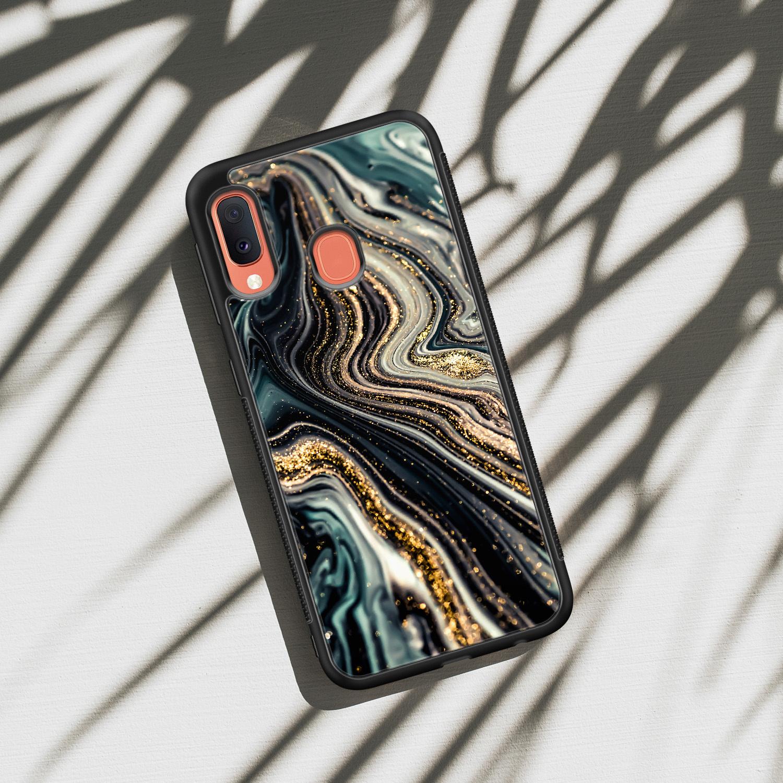 Samsung Galaxy A20e hoesje - Marmer swirl