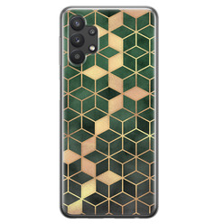 Leuke Telefoonhoesjes Samsung Galaxy A32 5G siliconen hoesje - Green cubes