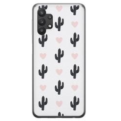 Samsung Galaxy A32 siliconen hoesje - Cactus love