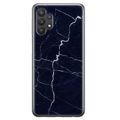 Leuke Telefoonhoesjes Samsung Galaxy A32 5G siliconen hoesje - Marmer navy blauw