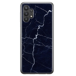 Samsung Galaxy A32 5G siliconen hoesje - Marmer navy blauw