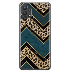 Leuke Telefoonhoesjes Samsung Galaxy A32 5G siliconen hoesje - Luipaard zigzag
