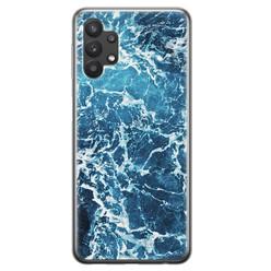 Leuke Telefoonhoesjes Samsung Galaxy A32 5G siliconen hoesje - Ocean blue
