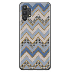 Leuke Telefoonhoesjes Samsung Galaxy A32 5G siliconen hoesje - Retro zigzag
