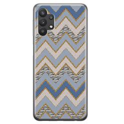 Samsung Galaxy A32 5G siliconen hoesje - Retro zigzag