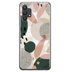 Samsung Galaxy A32 siliconen hoesje - Abstract print