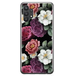 Leuke Telefoonhoesjes Samsung Galaxy A32 5G siliconen hoesje - Bloemenliefde