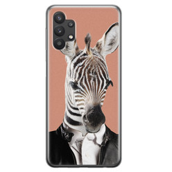 Samsung Galaxy A32 siliconen hoesje - Baby zebra