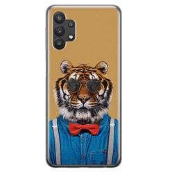 Leuke Telefoonhoesjes Samsung Galaxy A32 5G siliconen hoesje - Tijger hipster