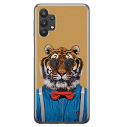 Samsung Galaxy A32 siliconen hoesje - Tijger hipster