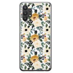 Leuke Telefoonhoesjes Samsung Galaxy A32 5G siliconen hoesje - Lovely flower