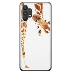 Samsung Galaxy A32 siliconen hoesje - Giraffe peekaboo