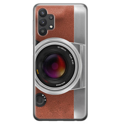 Leuke Telefoonhoesjes Samsung Galaxy A32 5G siliconen hoesje - Vintage camera