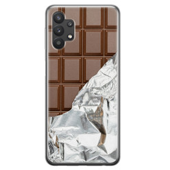 Samsung Galaxy A32 siliconen hoesje - Chocoladereep