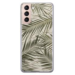 Leuke Telefoonhoesjes Samsung Galaxy S21 siliconen hoesje - Leave me alone