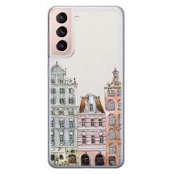 Leuke Telefoonhoesjes Samsung Galaxy S21 siliconen hoesje - Grachtenpandjes