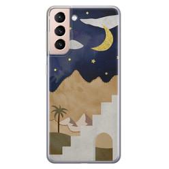 Samsung Galaxy S21 siliconen hoesje - Desert night