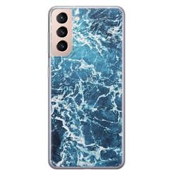 Leuke Telefoonhoesjes Samsung Galaxy S21 siliconen hoesje - Ocean blue