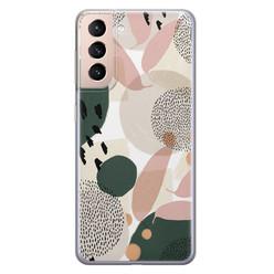 Leuke Telefoonhoesjes Samsung Galaxy S21 siliconen hoesje - Abstract print