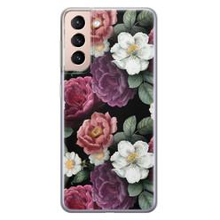 Leuke Telefoonhoesjes Samsung Galaxy S21 siliconen hoesje - Bloemenliefde