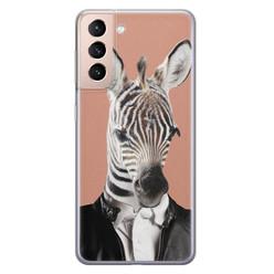 Leuke Telefoonhoesjes Samsung Galaxy S21 siliconen hoesje - Baby zebra