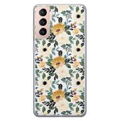 Leuke Telefoonhoesjes Samsung Galaxy S21 siliconen hoesje - Lovely flower
