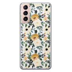 Samsung Galaxy S21 siliconen hoesje - Lovely flower