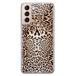 Leuke Telefoonhoesjes Samsung Galaxy S21 siliconen hoesje - Wild animal