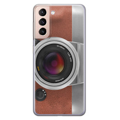 Leuke Telefoonhoesjes Samsung Galaxy S21 siliconen hoesje - Vintage camera