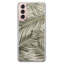 Samsung Galaxy S21 Plus siliconen hoesje - Leave me alone