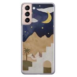 Samsung Galaxy S21 Plus siliconen hoesje - Desert night