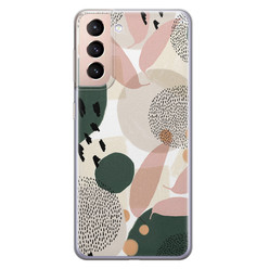Samsung Galaxy S21 Plus siliconen hoesje - Abstract print