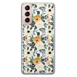 Samsung Galaxy S21 Plus siliconen hoesje - Lovely flower
