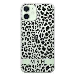 iPhone 12 siliconen hoesje ontwerpen - Luipaard grijs
