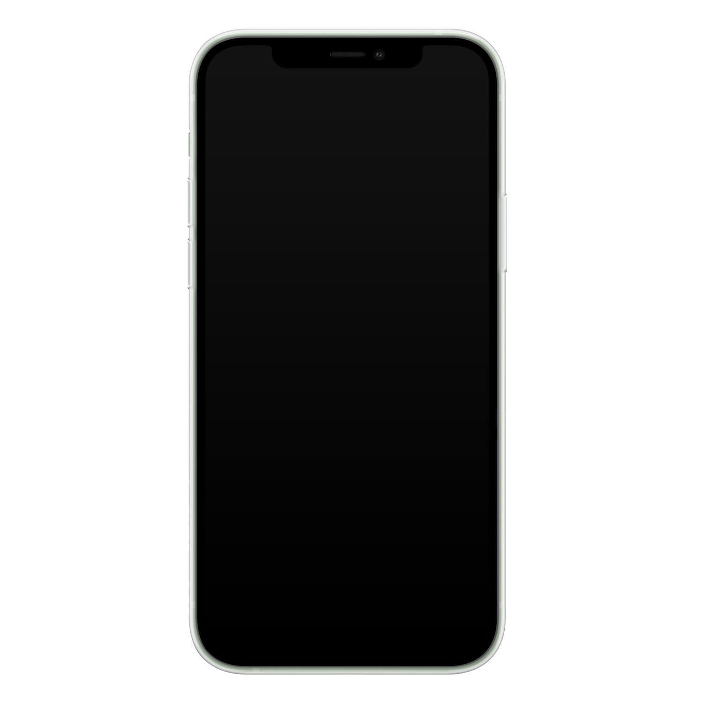 Leuke Telefoonhoesjes iPhone 12 siliconen hoesje ontwerpen - Luipaard grijs