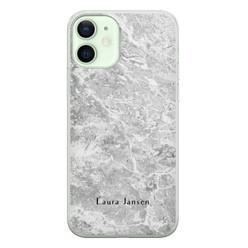 iPhone 12 siliconen hoesje ontwerpen - Marmer grijs
