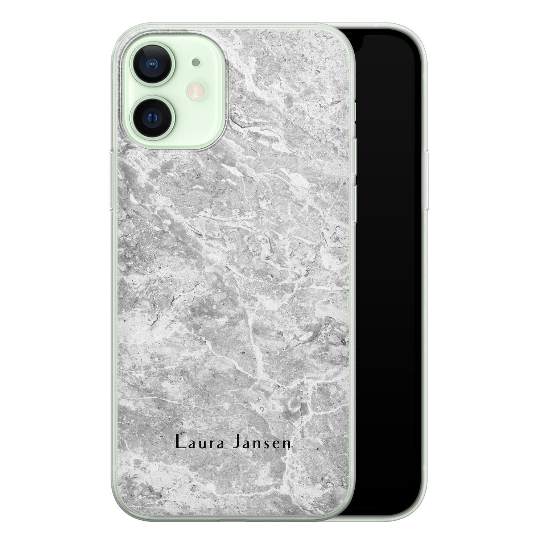 Leuke Telefoonhoesjes iPhone 12 siliconen hoesje ontwerpen - Marmer grijs