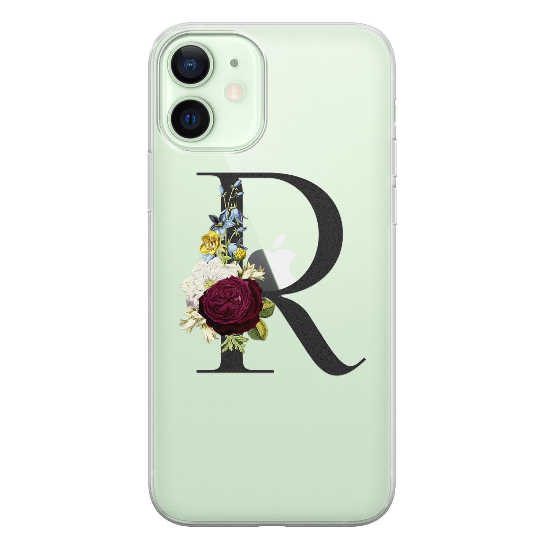 Leuke Telefoonhoesjes iPhone 12 siliconen hoesje ontwerpen - Monogram