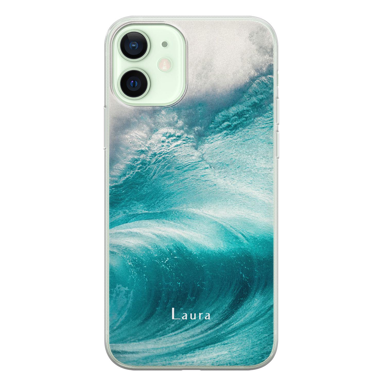 Leuke Telefoonhoesjes iPhone 12 siliconen hoesje ontwerpen - Blue wave