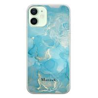 iPhone 12 siliconen hoesje ontwerpen - Marmer liquid