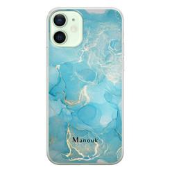 Leuke Telefoonhoesjes iPhone 12 siliconen hoesje ontwerpen - Marmer liquid