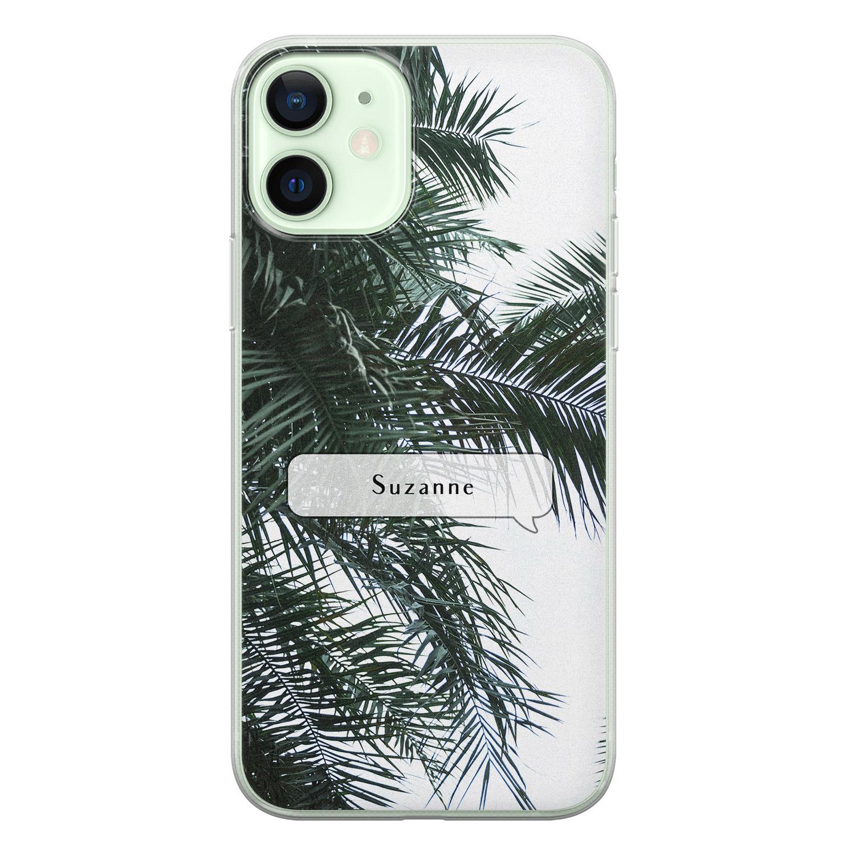 iPhone 12 siliconen hoesje ontwerpen - Palmbladeren
