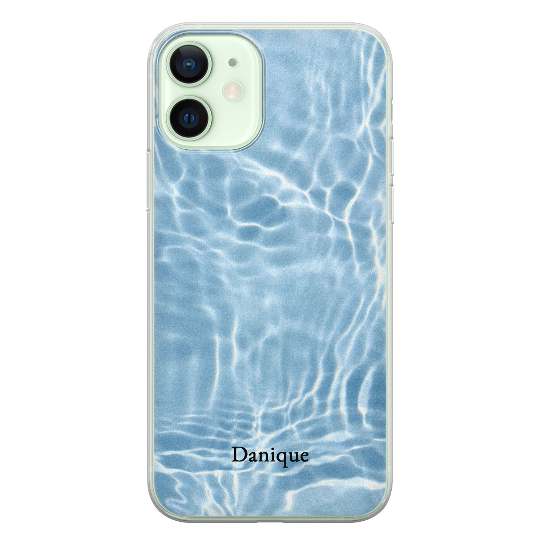 Leuke Telefoonhoesjes iPhone 12 siliconen hoesje ontwerpen - Water blue