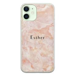 Leuke Telefoonhoesjes iPhone 12 siliconen hoesje ontwerpen - Marble sunkissed