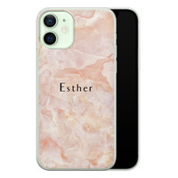 iPhone 12 siliconen hoesje ontwerpen - Marble sunkissed